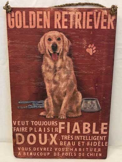 Golden Retriever Sign - French