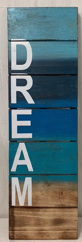 sign - Dream - 1mx30cm - natural/ blue combo