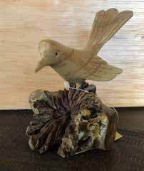 Bird with Tail up on Burl
