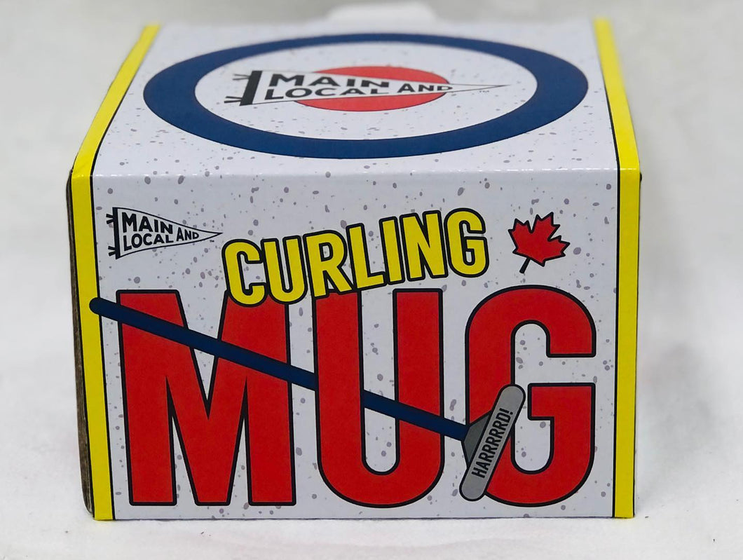 Curling rock  - ceramic coffee mug