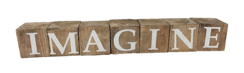 block - imagine - natural/white letters - 8cm