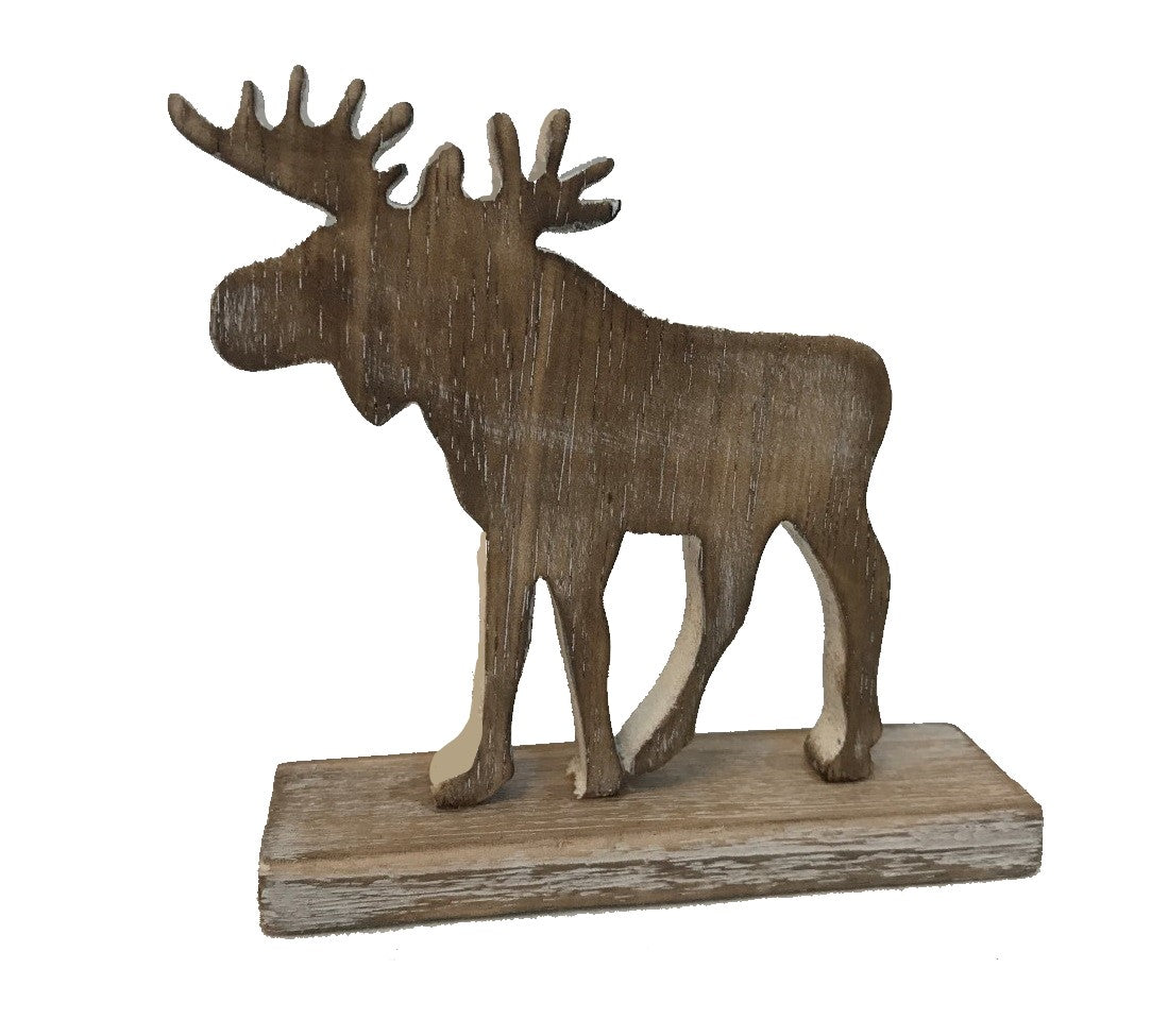 woodland - moose - on stand - whitewash/natural