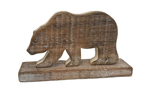woodland - bear - on stand - whitewash/natural