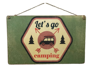 """Let's Go Camping"" Sign"