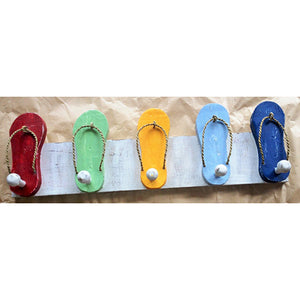 Hanger - 5 sandal/5 hook - multi colour