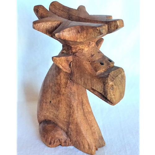 moose - cartoon - sitting - 8cm - small