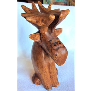 moose - cartoon - sitting - 15cm - large