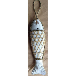 fish - bamboo wrap - white wash