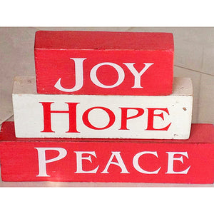 Joy, Hope & Peace Blocks