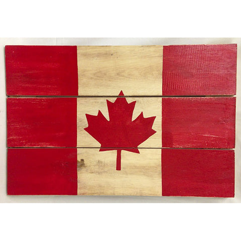 sign - Canadian flag - 60x40cm - red & white