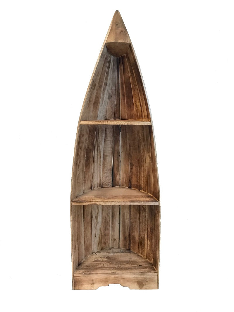 boat shelf - natural w/ dark green rim - large - 1.2m - 3 shelves