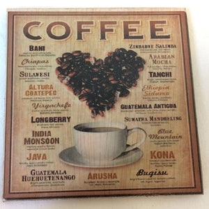 Coaster - Coffee - heart of coffee beans