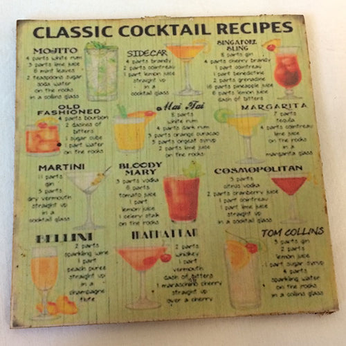 Coaster - classic cocktail recipies