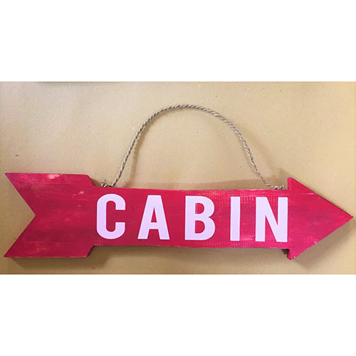 arrow - cabin - red/white - 2 sided - 57cm