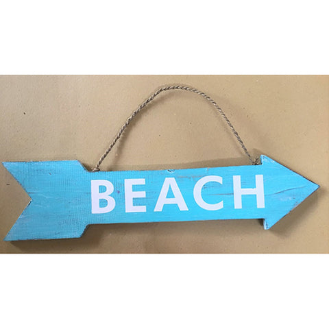 arrow - beach - turquoise/white - 2 sided - 57cm