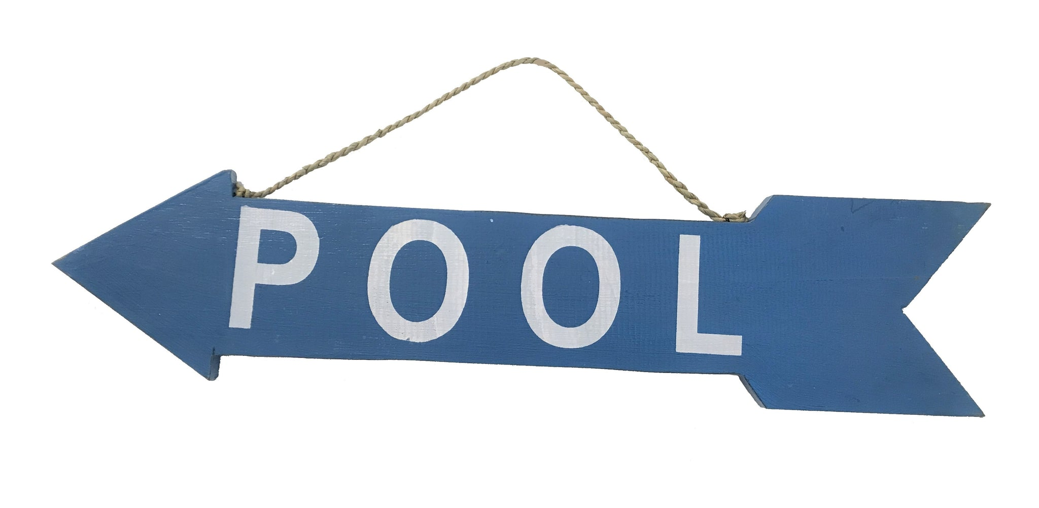 arrow - pool - dark blue/white - 2 sided - 57cm