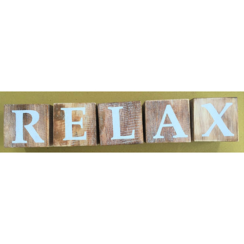 blocks - relax - natural/white letters - 8cm