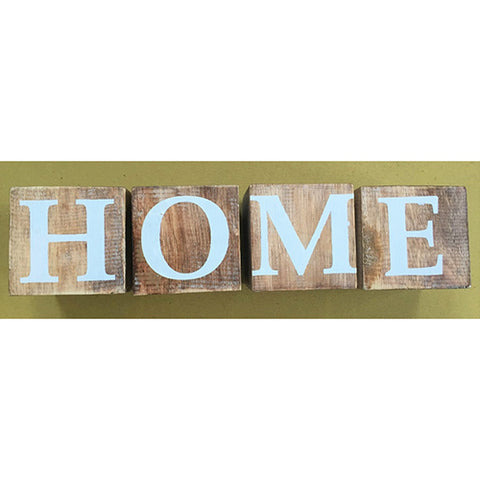 blocks - home - natural/white letters - 8cm