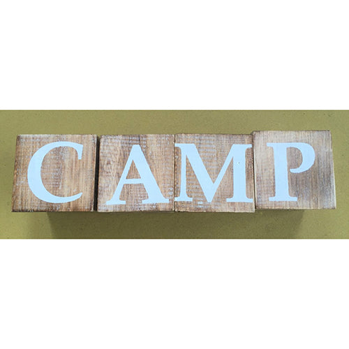 blocks - camp - natural/white letters
