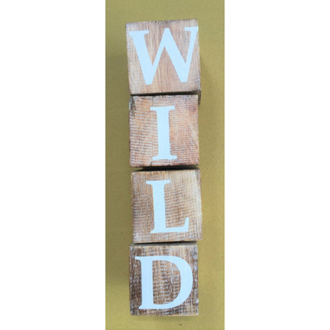 blocks - wild - natural/white letters