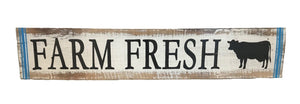 sign - farm fresh - blue lines - 50x10cm