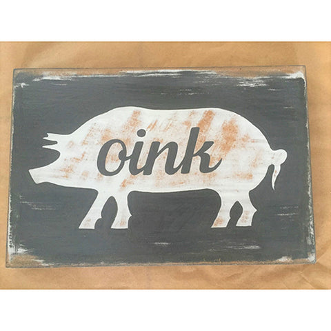 sign - oink - 30x20cm