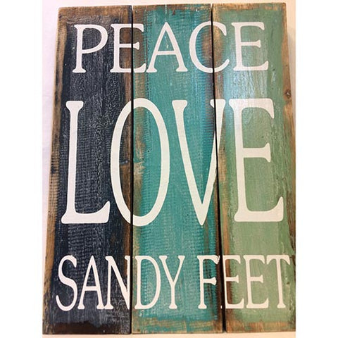 sign - peace/love/sandy feet - 30x40