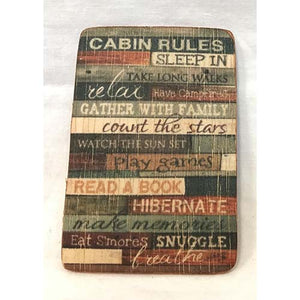 magnet - cabin rules - 6x9cm