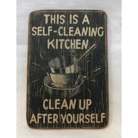 magnet - self cleaning kitchen - 6x9cm