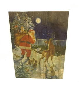 Santa with Animals Sign
