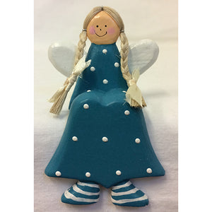 angel - shelf sitter - pigtails - turquoise
