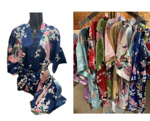 Kimono/Robes - Chinese silk - Comes in an Assortment of Colours