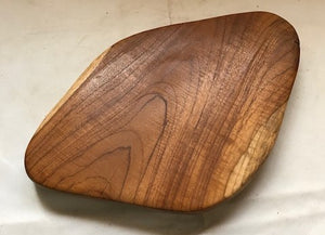 teak tray abstract 42 x 27cm