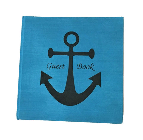 guest book - anchor - blue/black