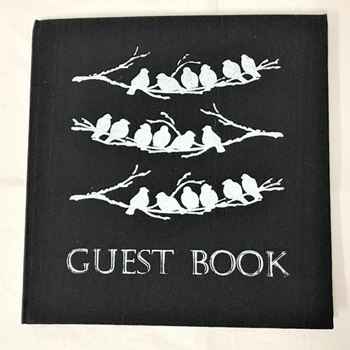 guest book - birds - black/white