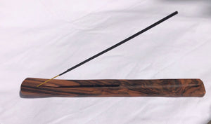 incense holder - dark long flat - sonowood