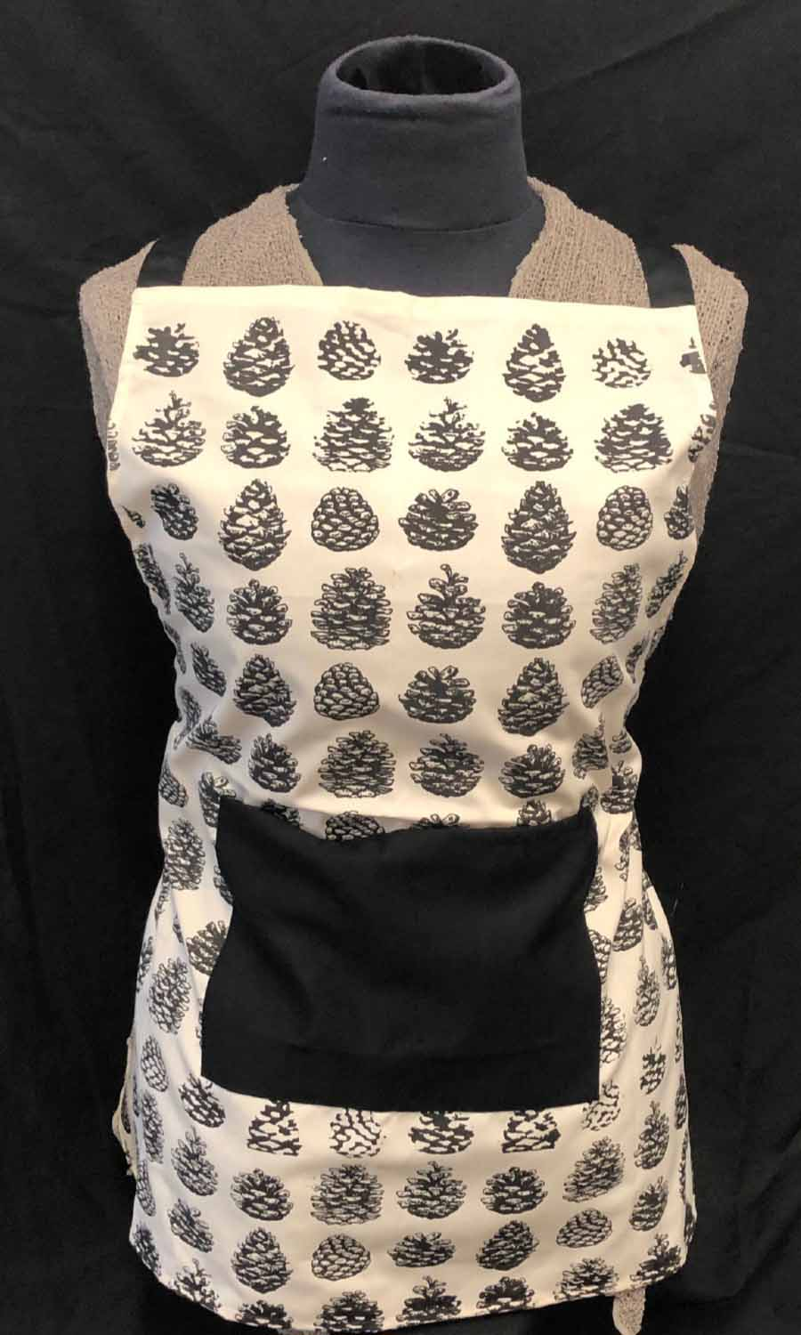 Apron with pinecone