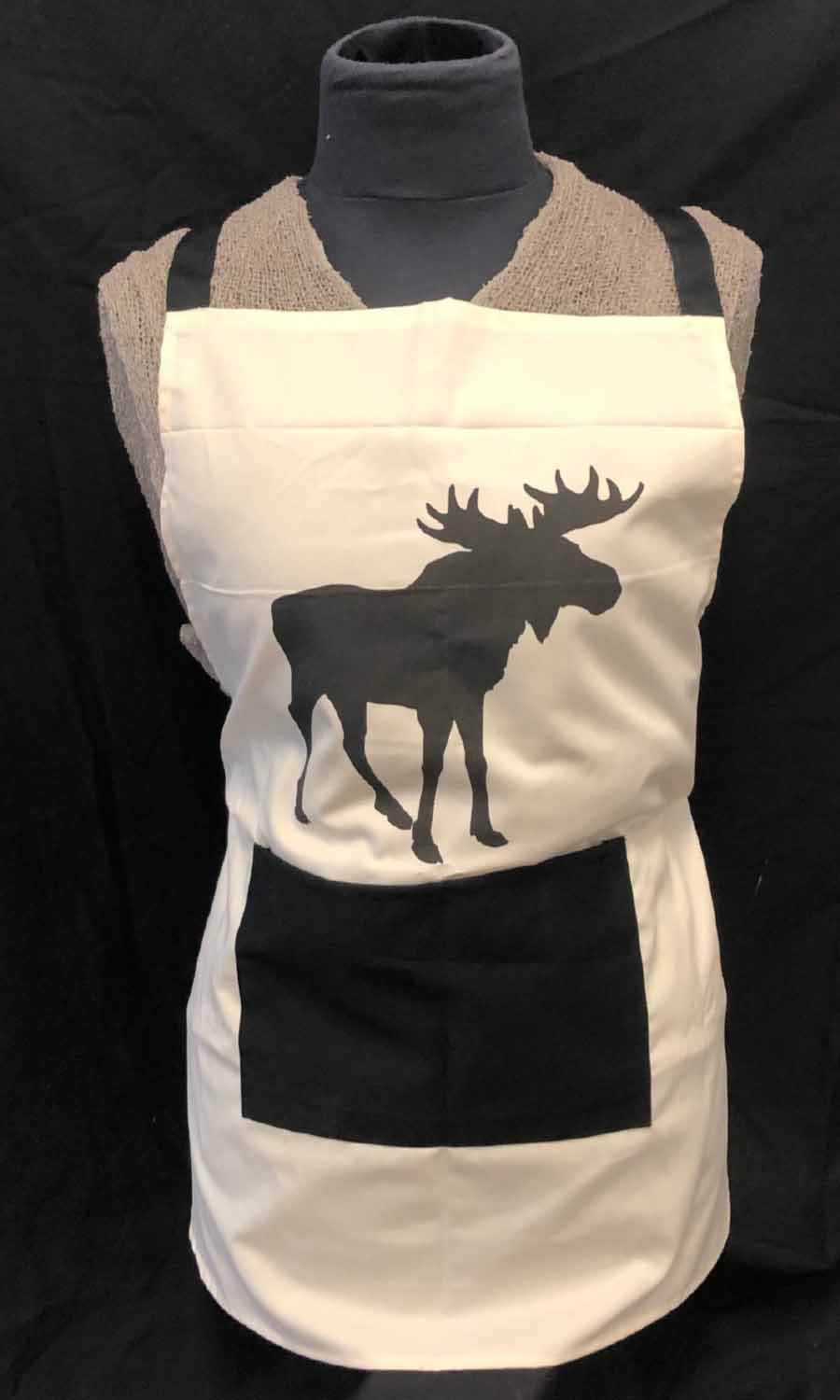 Apron with moose