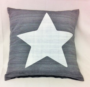 cushion - Star - grey - 40 cm squared