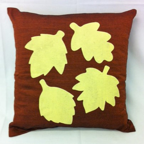 cushion - Leaves - copper 40 cm squared