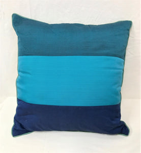 cushion - 3 stripe design - browns - COMPLETE - 40cm