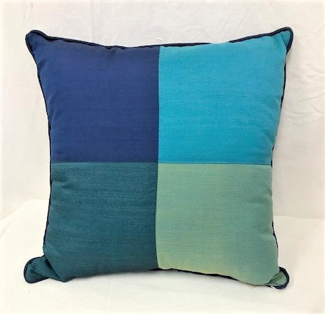 cushion - 4 patch design - browns - COMPLETE - 40cm
