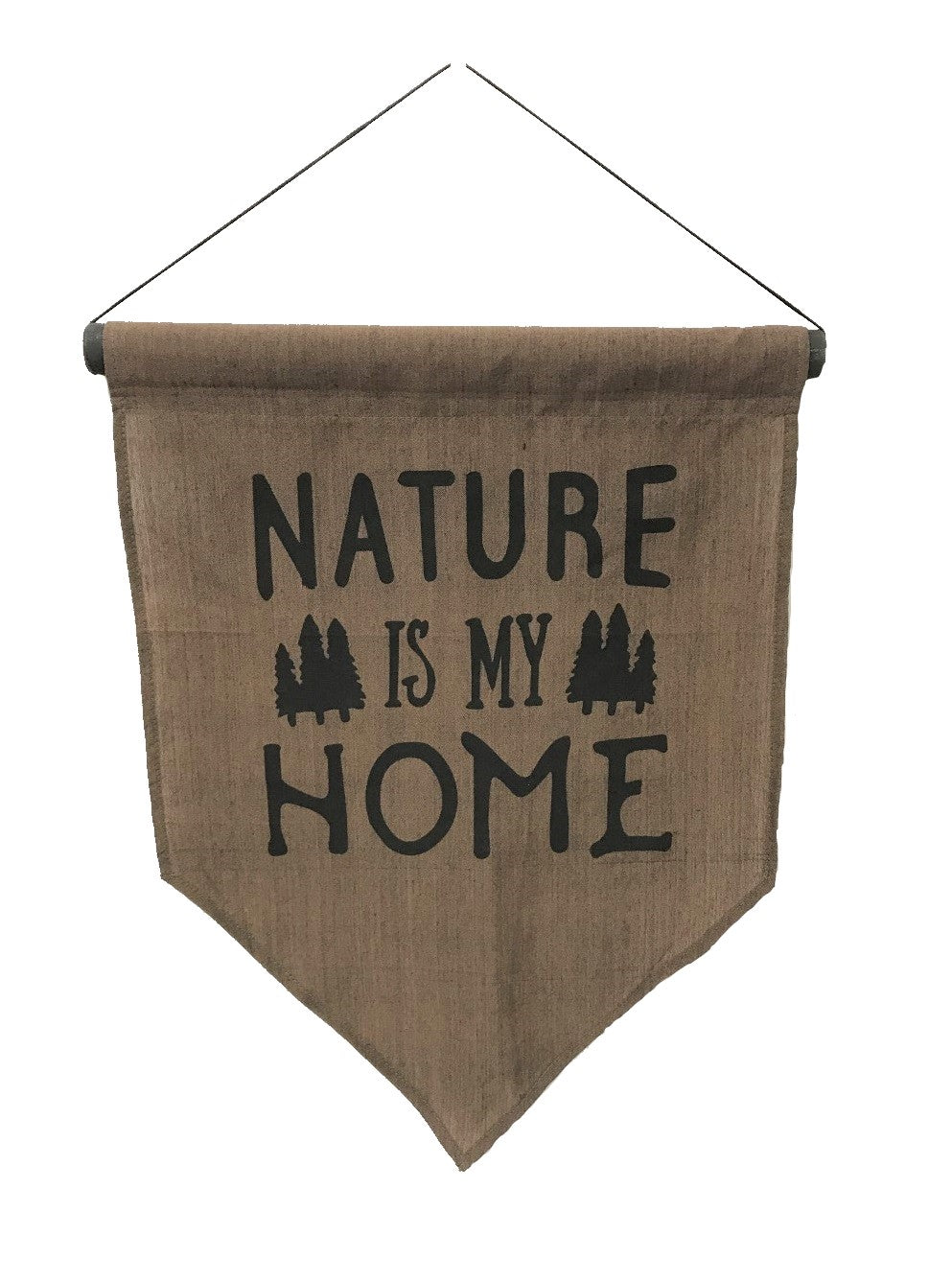 flag - nature is my home - brown - 50x35cm