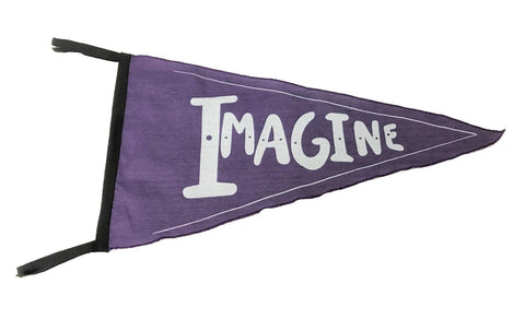 flag - pennant - imagine - purple - 40x40x22