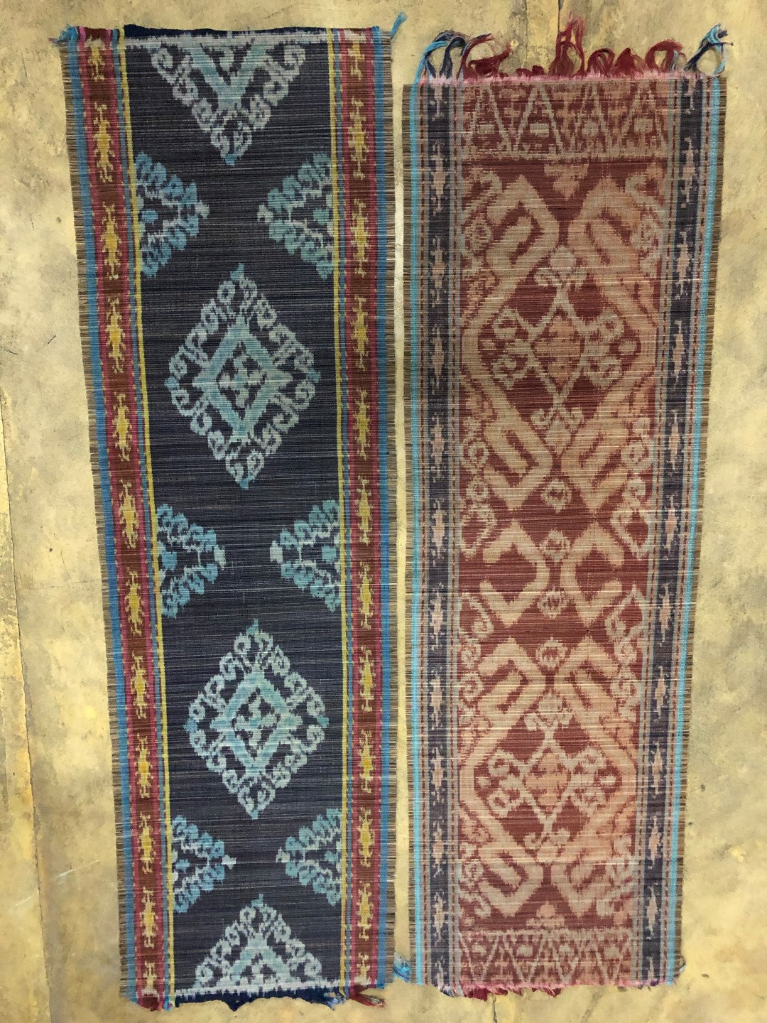 table runner - batik motif-brown-bamboo stick -150x50cm