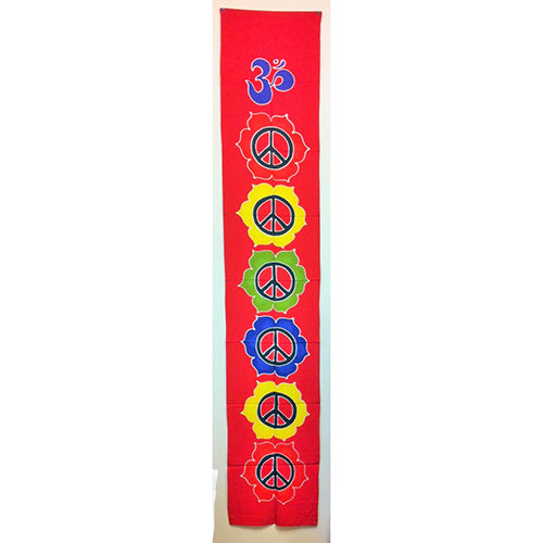 Handpainted Batik Chakra Peace - Red