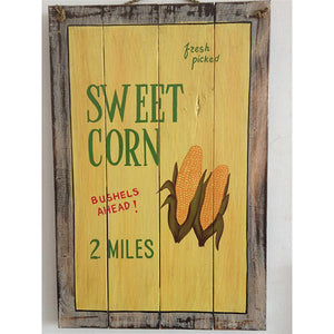 wooden sign - sweet corn - 40x60cm