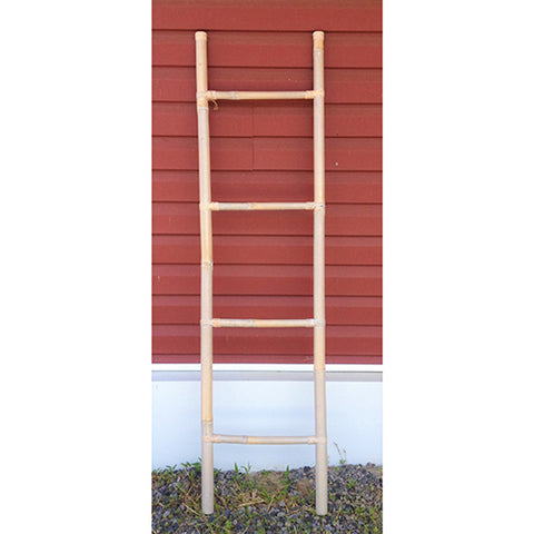 bamboo ladder - 160cm - whitewash