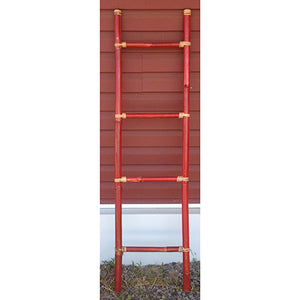 bamboo ladder - 160cm - red