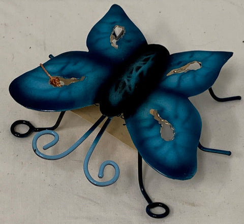butterfly - mini - iron - 8cm - blue